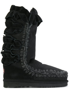 зимние ботинки с оборками Mou