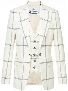 приталенный пиджак в клетку Vivienne Westwood