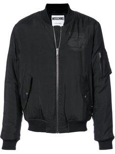 куртка-бомбер с логотипом Moschino