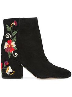 ботинки по щиколотку с вышивкой Sam Edelman