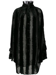 длинная блузка с бархатными полосками Ann Demeulemeester