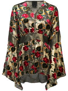 блузка с цветочным узором Anna Sui