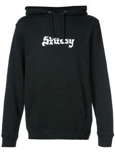 худи с принтом логотипа Stussy