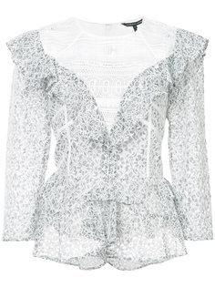 кружевная блузка с рюшами Marissa Webb