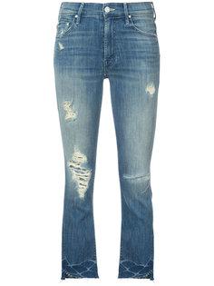 укороченные джинсы с рваной отделкой Mother