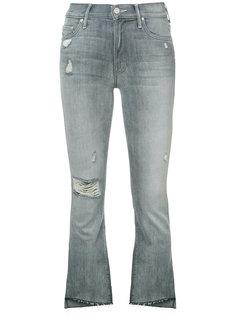 укороченные джинсы с бахромой Mother