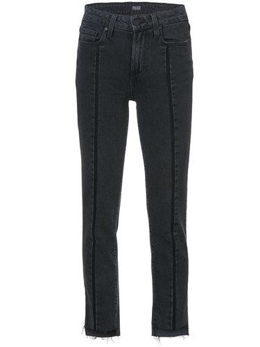укороченные джинсы с необработанными краями Paige