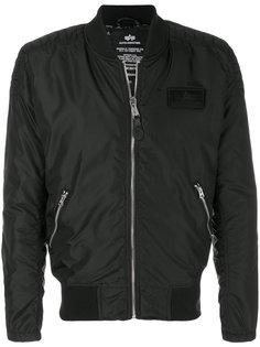 куртка-бомбер с логотипом Alpha Industries