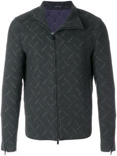куртка с асимметричной застежкой-молнией Emporio Armani