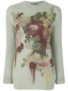 свитер с цветочным рисунком Alberta Ferretti
