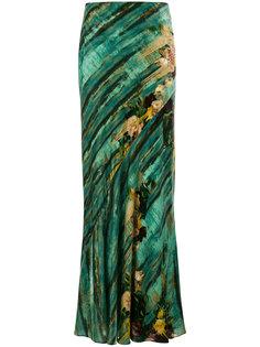 юбка-макси с принтом Alberta Ferretti