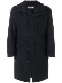 пальто миди на молнии Emporio Armani