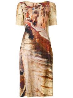 платье Abito с принтом Alberta Ferretti