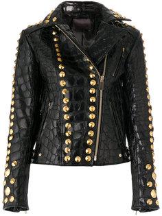 фактурная куртка с отделкой заклепками  Amen Amen.
