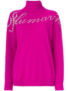 свитер с логотипом и отделкой пайетками  Blumarine