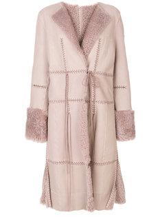 пальто с декоративной строчкой Alexander McQueen