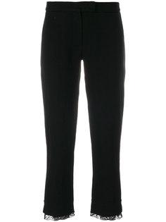 укороченные брюки с кружевной отделкой  Ann Demeulemeester
