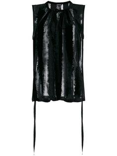 полупрозрачная блузка с завязкой на шее  Ann Demeulemeester