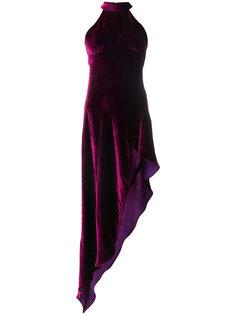 асимметричное бархатное платье Attico