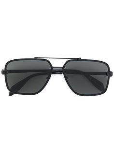 солнцезащитные очки в квадратной оправе Alexander McQueen