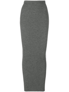 трикотажная юбка в рубчик Haider Ackermann