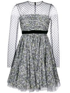 расклешенное полупрозрачное платье в горох  Philosophy Di Lorenzo Serafini