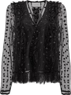 кружевная блузка в горох Alexis