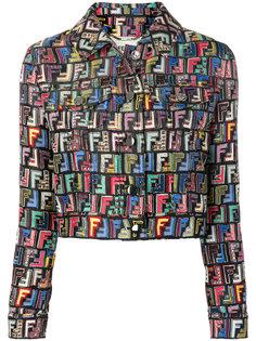 пиджак с принтом логотипа FF Fendi
