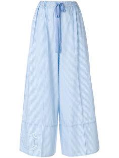 широкие полосатые брюки Fendi