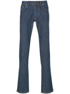 джинсы прямого кроя Brioni