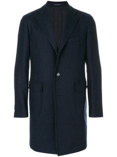 удлиненное однобортное пальто  Tagliatore