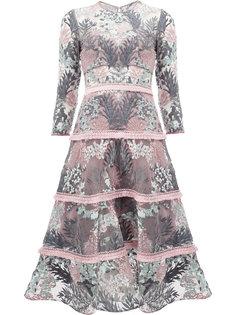 расклешенное платье с цветочным узором Alexis