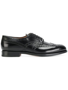 туфли с перфорацией Santoni