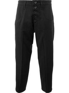 укороченные брюки с пуговичной отделкой Christopher Nemeth