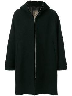 пальто с капюшоном на молнии Jil Sander
