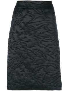 жаккардовая юбка-карандаш Armani Collezioni