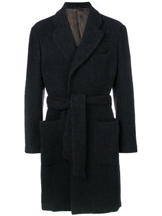 пальто строгого кроя на пуговицах Giorgio Armani