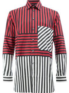 полосатая рубашка дизайна колор-блок Ports 1961