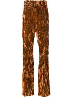 брюки с завышенной талией и поясом  Ann Demeulemeester