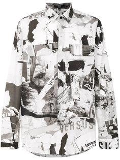 рубашка с принтом-коллажем Versus
