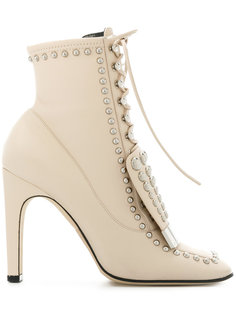 ботинки на шнуровке с заклепками Sergio Rossi