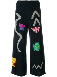 трикотажные брюки вязки интарсия Peter Pilotto