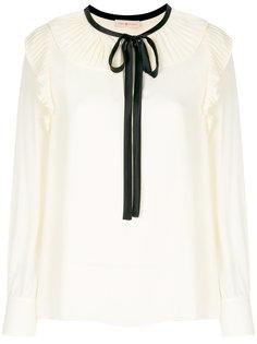 блузка с контрастной оторочкой Tory Burch
