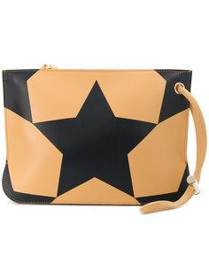 клатч с принтом звезд Nina Ricci