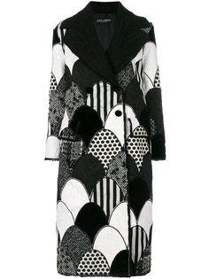 лоскутное пальто Dolce & Gabbana