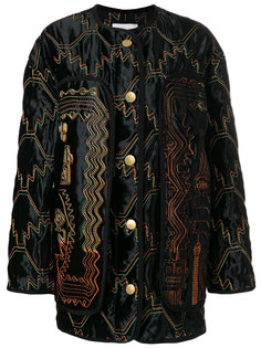 куртка-бомбер с зигзагообразным узором Peter Pilotto