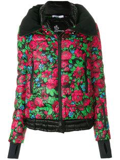 куртка-пуховик с цветочным принтом Moncler Grenoble