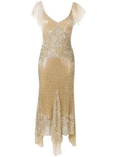 асимметричное платье с пайетками Amen Amen.