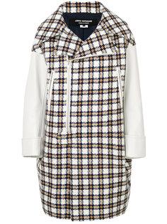 двубортное пальто с узором  Junya Watanabe Comme Des Garçons