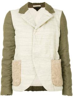 двухцветная дутая куртка  Comme Des Garçons